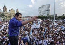 Jimmy Morales se convierte en el octavo presidente electo en la era democrática. (Foto Prensa Libre: Hemeroteca PL)