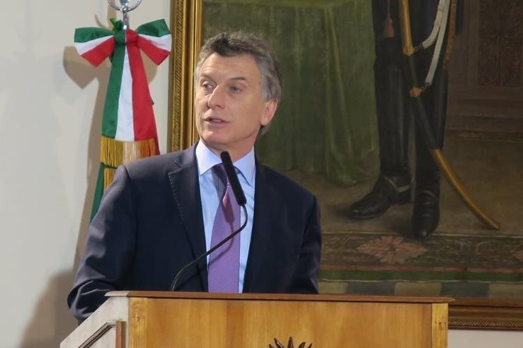El presidente de Argentina, Mauricio Macri, en un acto público reciente. (Foto Prensa Libre: EFE).