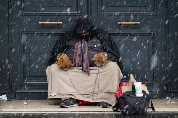 """La """"bestia del este"""" preocupa particularmente por las personas más vulnerables, como los sin techo. GETTY IMAGES"""