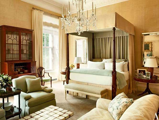 La habitación de Barack Obama y su esposa Michelle. (Foto: ARCHITECTURAL DIGEST).