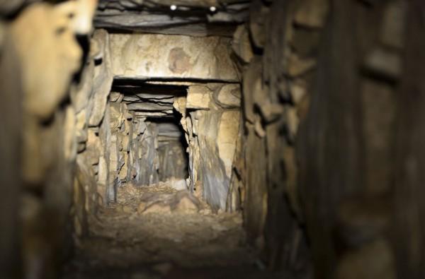 uno de los canales de agua descubiertos bajo el sitio arqueológico de Palenque. (AFP).