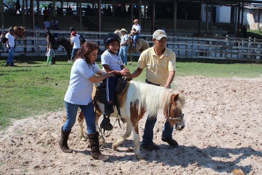 La equinoterapia beneficiará a niños, jóvenes y población de Alta Verapaz. (Foto Prensa Libre: Eduardo Sam)