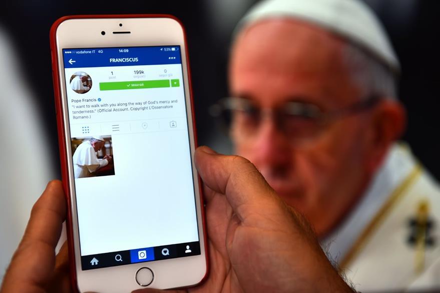 Cuenta del Papa en la red social Instagram. (AFP)