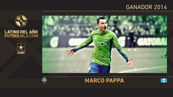 Pappa fue el ganador del Latino del año del 2014. (Foto Prensa Libre: FutbolMLS.com)