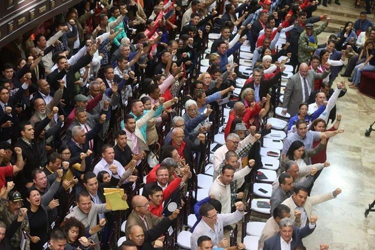 Reunión de la Asamblea Nacional Constituyente en Caracas, Venezuela. (Foto Prensa Libre: EFE)