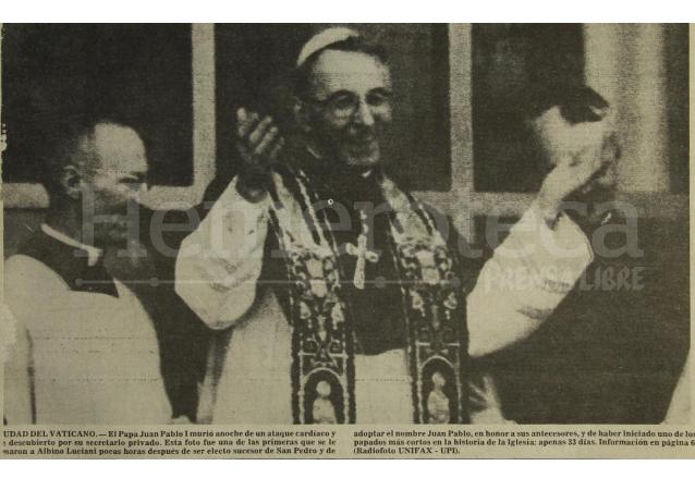 El Pontificado de Juan Pablo I fue el más corto del siglo XX y uno de los más breves de la historia. (Foto: Hemeroteca PL)