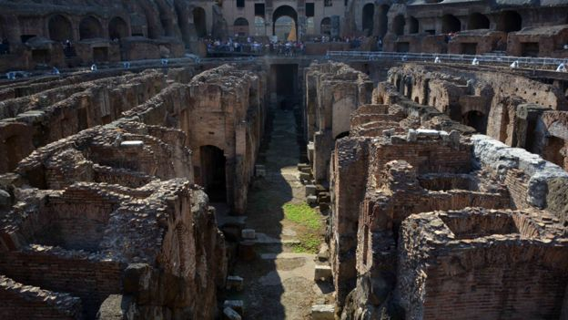 Túneles y galerías fueron ocupados por los habitantes de Roma. GETTY IMAGES