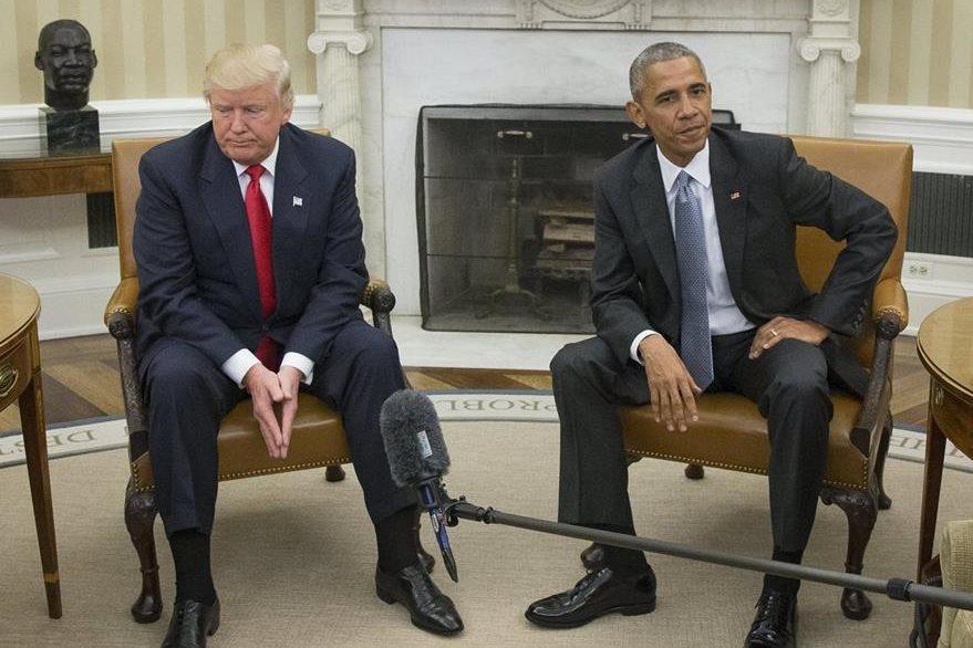 Las relaciones entre el expresidente Barack Obama (derecha) y el ahora presidente Donald Trump han sido tensas. (EFE)