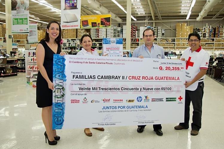 Office Depot y miles de guatemaltecos se unen en iniciativa solidaria por El Cambray II.