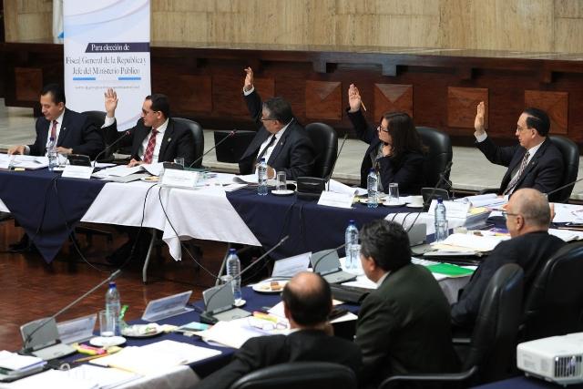 El trabajo de la Comisión de Postulación de Fiscal General, sería objetado por diferentes colectivos.(Foto Prensa Libre: Álvaro Interiano)