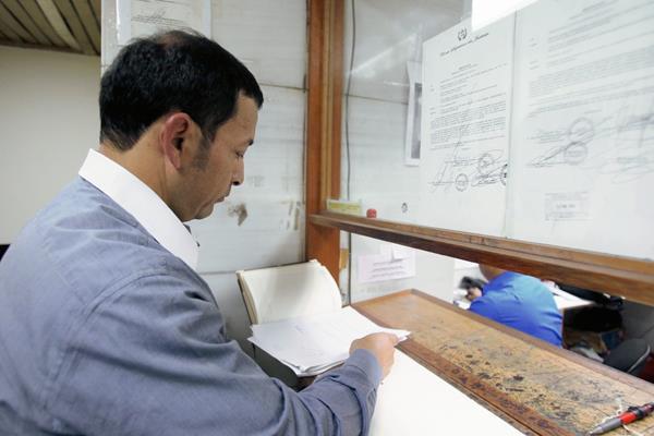 Benito Herrera, fiscal de delitos contra periodistas en Torre de Tribunales. (Foto Prensa Libre: Paulo Raquec).