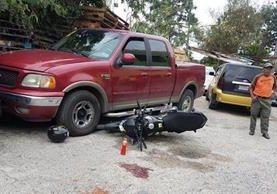 Lugar donde fue copado y baleado el presunto ladrón en un sector de la zona 2 capitalina. (Foto Prensa Libre: Amílcar Montejo).
