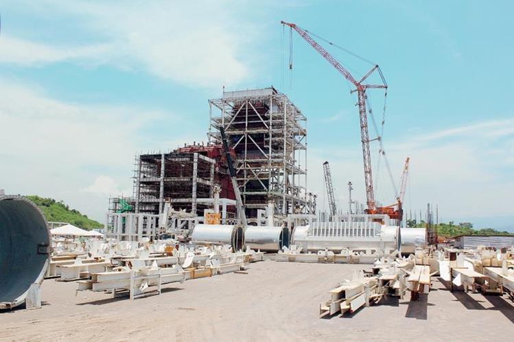 Construcció—n de la planta de generación eléctrica Jaguar Energy,  en el Municipio de Masagua, Departamento de Escuintla. (Foto Prensa Libre: Estuardo Paredes).