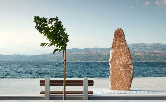 """Senad Tahmaz describe su fotografía como la """"insólita y minimalista vista de un detalle arquitectónico"""". La tomó en Supetar, un pueblo de la isla isla de Brač, también llamada Brazza o Brac, en Croacia. SENAD TAHMAZ"""