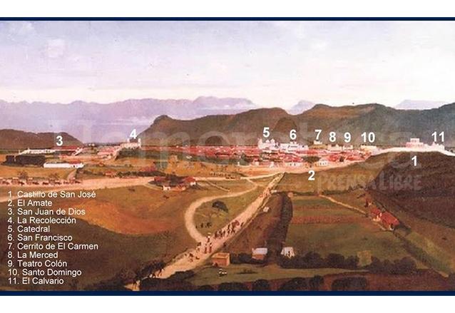 La ciudad vista desde la Calle Real del Guarda, conocida después como Calle de la Libertad, actual Avenida Bolívar a finales del siglo XIX. (Foto: Hemeroteca PL)