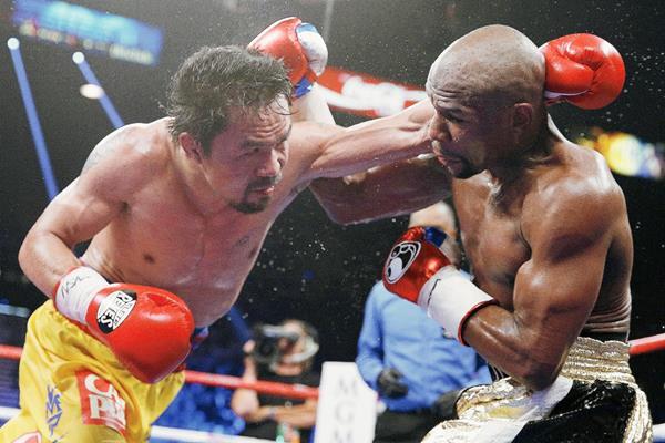Mayweather venció a Pacquiao en la denominada pelea del siglo. (Foto Prensa Libre: AP).