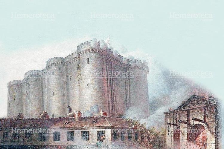 Representación de la toma de la Bastilla el 14/7/1789. (Foto: Hemeroteca PL)