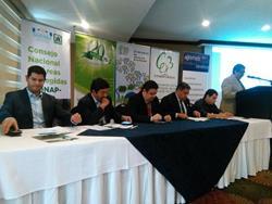 Autoridades presentan el Esquema de Verificación de la Legalidad en el Sector Forestal, con el que pretenden disminuir las talas ilegales en el país. (Foto Prensa Libre: César Pérez)