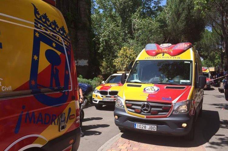 Varios heridos fueron trasladados a hospitales cercanos. (Foto Prensa Libre: @EmergenciasMad)