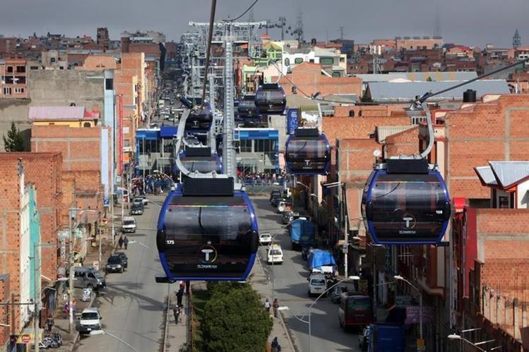 En países como Bolivia, el sistema de teleférico ha dado muy buenos resultados. (Foto Prensa Libre: Hemeroteca PL)