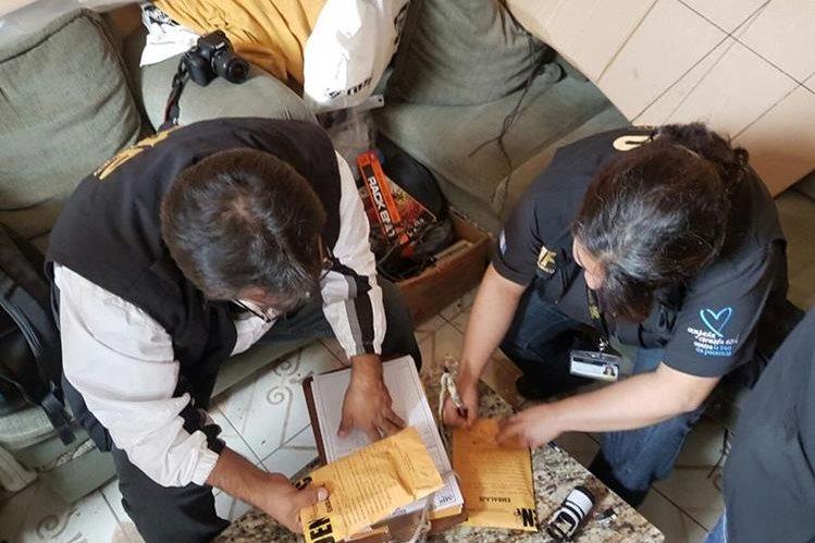 El Ministerio Público localiza evidencia de pornografía infantil que era distribuida por internet. (Foto Prensa Libre: MP)