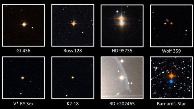 El Laboratorio de Habitabilidad Planetaria estaba investigando varias estrellas cuando detectó las extrañas señales provenientes de Ross 128. PHL / UPR ARECIBO / ALADIN SKY ATLAS