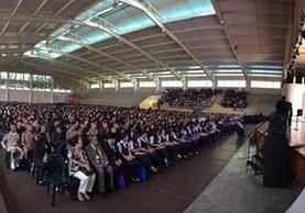 A la actividad asistieron al menos tres mil estrudiantes de diferentes centros educativos de la capital. (Foto Prensa Libre: Cortesía)