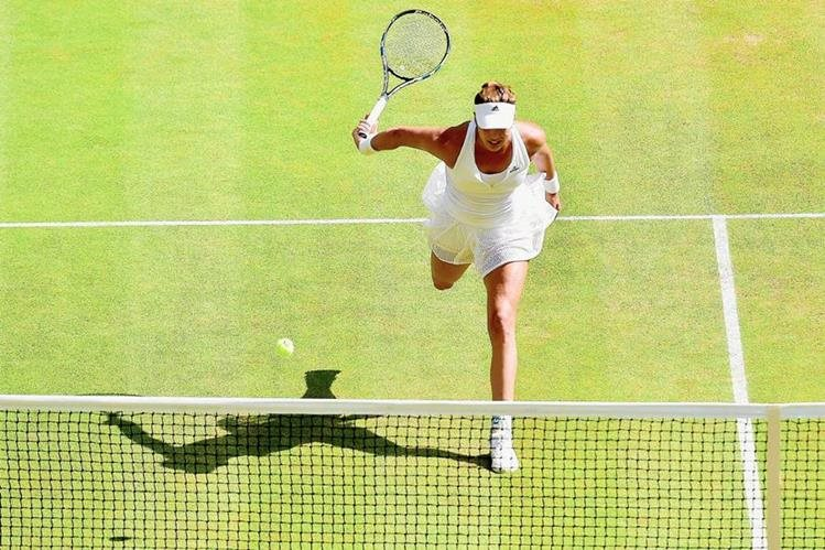 Garbiñe Muguruza quedó como subcampeona de Wimbledon al caer en la final frente a Serena Williams. (Foto Prensa Libre: Hemeroteca PL)
