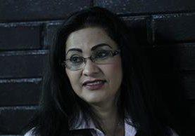 Marixa Ethelinda Lemus Pérez, alias la Patrona, en Torre de Tribunales este jueves. (Foto Prensa Libre: Érick Ávila).