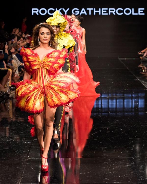 Miss Universo Guatemala representó la belleza nacional en Los Angeles Fashion Week. (Foto Prensa Libre: Mark Méndez)