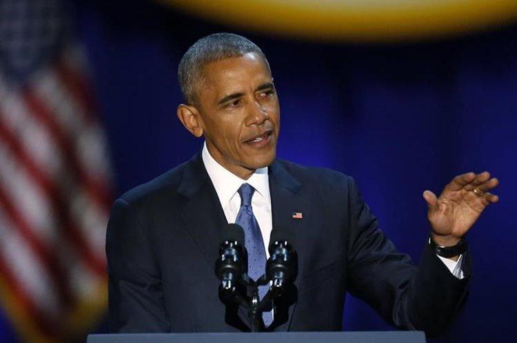 El discurso de Obama duró aproximadamente cincuenta minutos.