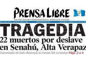 Titular de Prensa Libre del 18 de junio de 2005. (Foto: Hemeroteca PL)