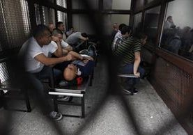 Tribunal de Mayor Riesgo A, continuación— de debate en contra de 15 presuntos integrantes de la banda denominada Bam Bam (Foto Prensa Libre: Paulo Raquec)