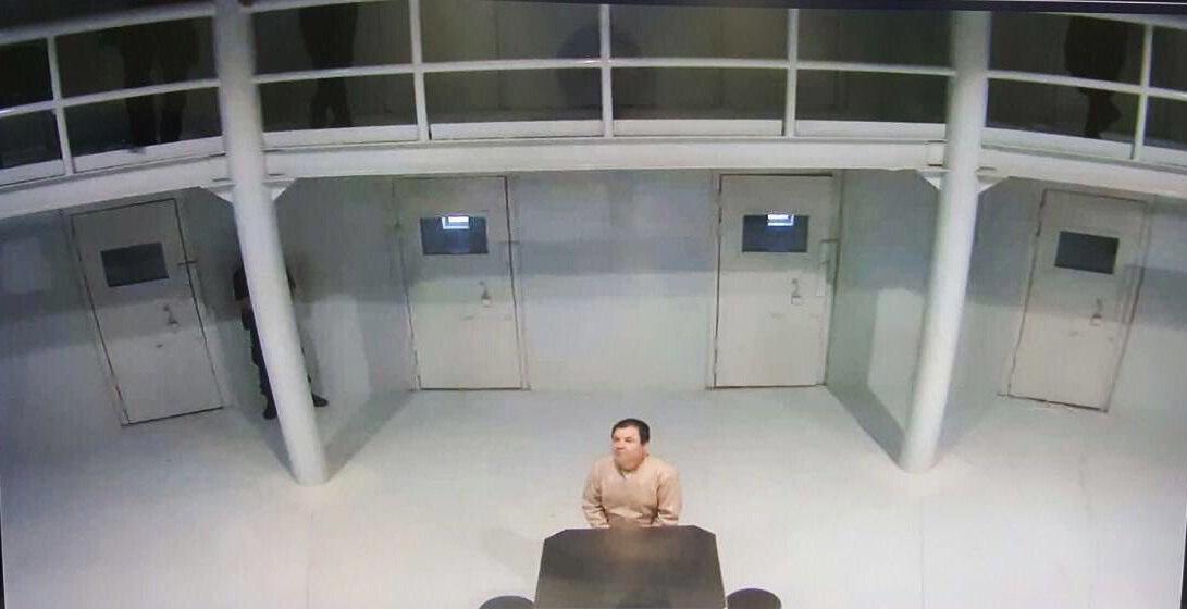 """Fotografía proporcionada la semana pasada que muestra al narcotraficante Joaquín """"el Chapo"""" Guzmán en el penal de Ciudad Juárez. (Foto Prensa Libre: EFE)."""