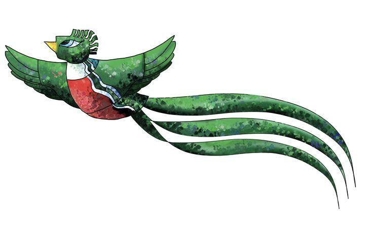 El quetzal es uno de los símbolos patrios que mejor empatía genera. (Ilustración Prensa Libre: Kevin Ramírez)