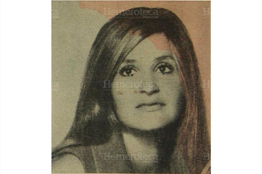María Olga Novella Alvarado de 35 años, fue liberada  por sus secuestradores miembros de la guerrilla del EGP. 08/04/1976. (Foto: Hemerotaca PL)
