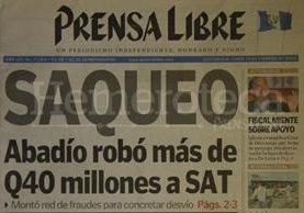 Titular de Prensa Libre del 23 de febrero de 2004. (Foto: Hemeroteca PL)