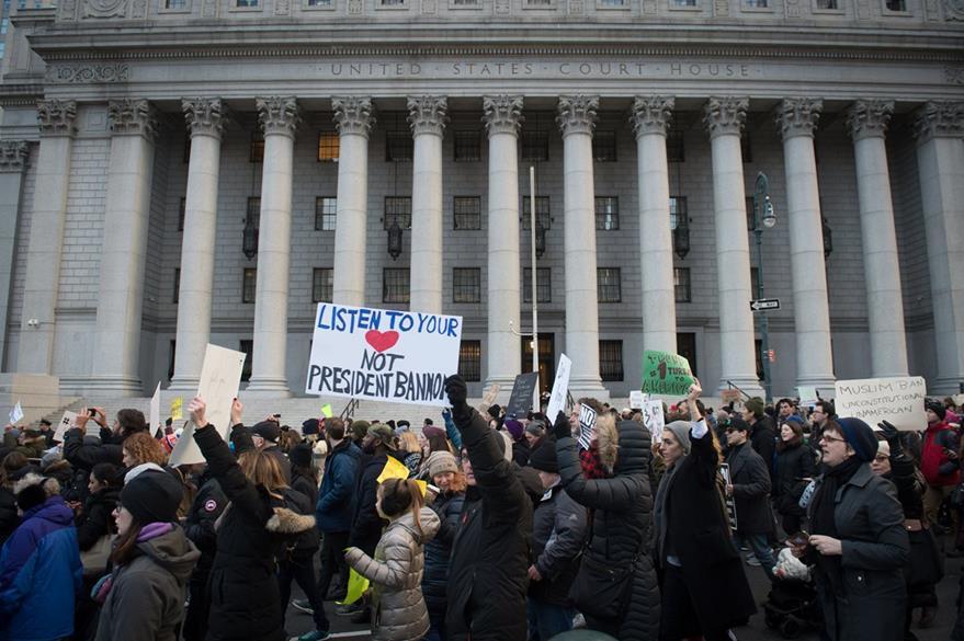Manifestaciones en Nueva York. (AFP)
