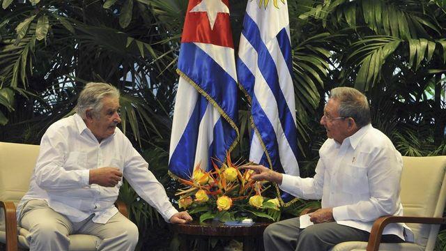 José Mujica se reunió con el presidente cubano Raúl Castro.