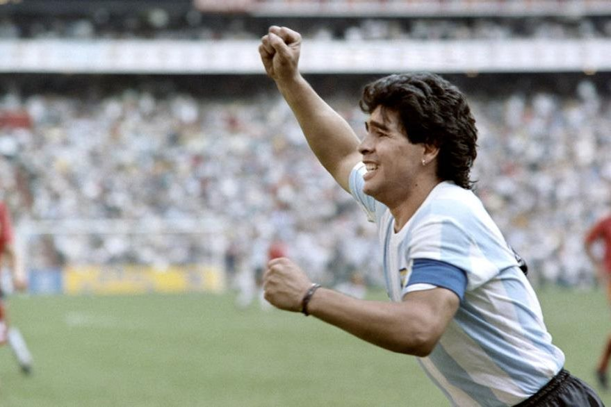 Maradona brilló con la Selección argentina en el Mundial de México 1986. (Foto Prensa Libre: Hemeroteca)