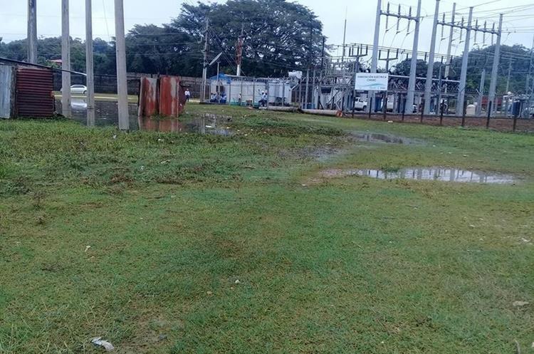 La planta del Inde quedó inundada.