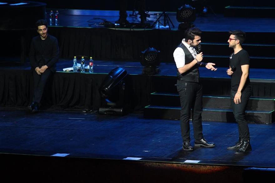 Ignazio y Piero bromearon e hicieron reír al público. (Foto Prensa Libre: Álvaro Interiano)