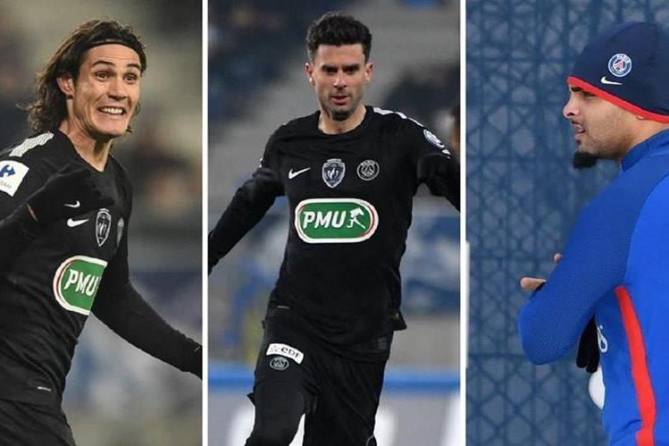 Cavani, Motta y Kurzawa no fueron convocados para el partido de este fin de semana contra el Toulouse. (Foto Prensa Libre: AFP)