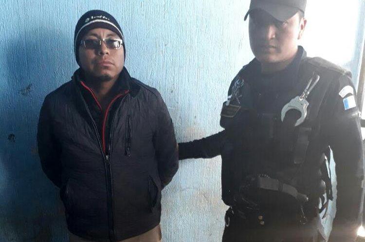 Ever Jeremías Mateo Antonio es sindicado de haber participación en un ataque armado en Santa Eulalia, Huehuetenango. (Foto Prensa Libre: Mike Castillo)