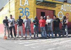 Inmueble ubicado en la zona 8 de la capital donde fue rescatada una mujer retenida por cinco hombres. (Foto Prensa Libre: Érick Ávila)