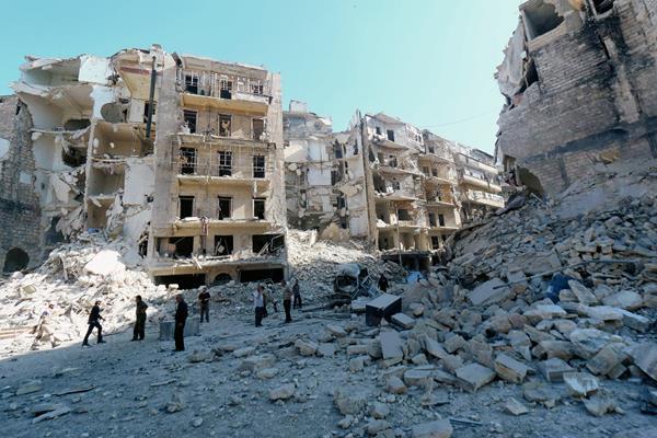 Alepo, Siria, está destruida por la guerra civil que vive ese país desde el 2011.