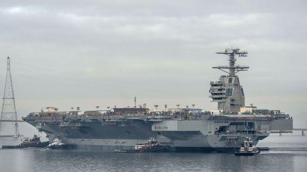 Tomó 10 años y US$13.000 millones construir el USS Gerald Ford. CHRIS OXLEY