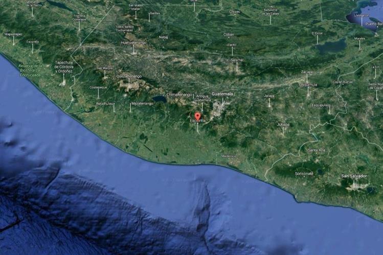 Un temblor de magnitud 5.3 con epicentro en Escuintla fue sensible a las 7 horas de este viernes. (Foto Prensa Libre: Insivumeh)
