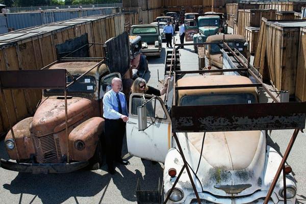 Los vehículos clásicos que serán subastados en Orange, California. (Foto Prensa LIbre:AP)
