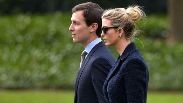 Jared Kushner, esposo de Ivanka Trump, también es asesor de su suegro. AFP